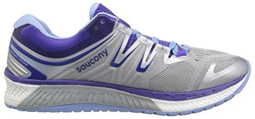 Saucony Womens Hurricane Iso 4 Scarpe Da Corsa Grigio / Viola