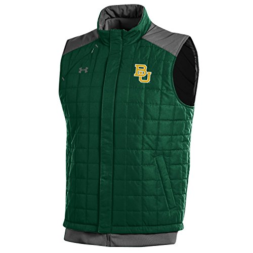 NCAA Baylor Bears Men's Puffer Vest, Forest Green, X-Large