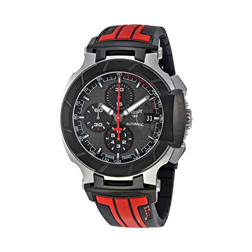 Tissot Men's T-Race Stainless Steel Swiss-Automatic Watch with Rubber Strap, Multi, 21 (Model: T0484272706100) ()