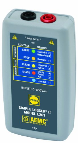 AEMC L261 Single-Channel AC Voltage Simple Logger II,  Resistance, 600V AC/DC Voltage by AEMC