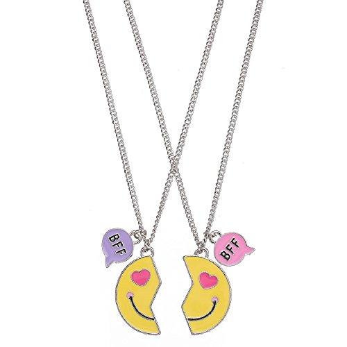 Emoji BFF Best Friends Necklace Set