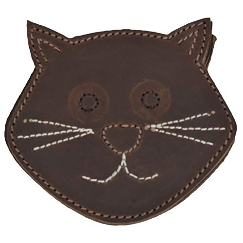 (Hide & Drink, Durable Thick Leather Whiskers Cat/Animal Farm Cute Shaped Coasters (6-Pack) Handmade Includes 101 Year Warranty :: Bourbon Brown)