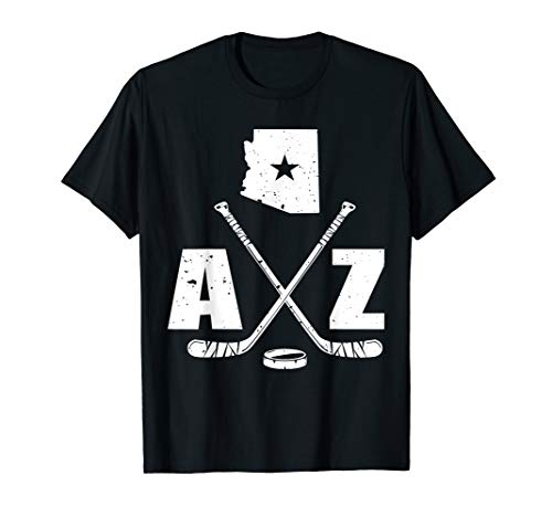 - AZ Hockey Tshirt The State Of Arizona Ice Hockey Image Gift