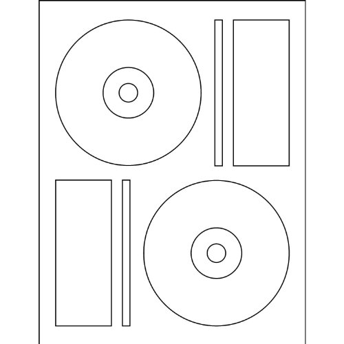 500 CD DVD White Matte Labels Memorex Core Compatible (Memorex Matte White Label Cd)
