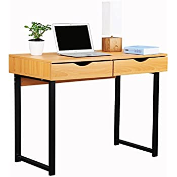 Amazoncom Tangkula Wood Computer Desk With Drawer Home Office - Large office work table