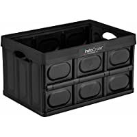 Instacrate 3-Pack Collapsible 12-Gallon Storage Bin for Easy Storage (Black)