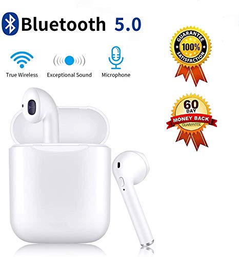Bluetooth Headphones Wireless Earbuds with Charging Case Noise Canceling Sports Headphones IPX5 Waterproof in-Ear Built-in Mic Headset for iPhone Android & Airpods