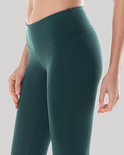 CRZ YOGA - Mallas Largos Leggins Deportivos con Bolsillo Running Para Mujer Verde oscuro