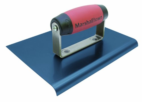 MARSHALLTOWN The Premier Line 158BD 6-Inch by 4-Inch Blue Steel Edger with DuraSoft Handle