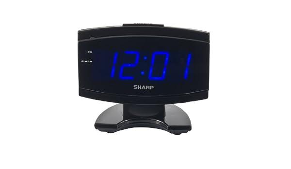 Sharp spc106 X LED Alarma Reloj (negro) nuevo: Amazon.es ...