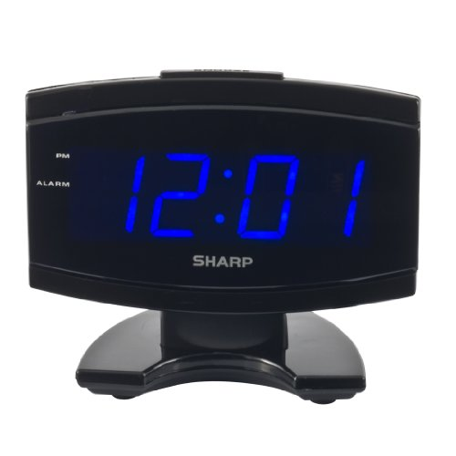 Sharp SPC106X Alarm Clock Black