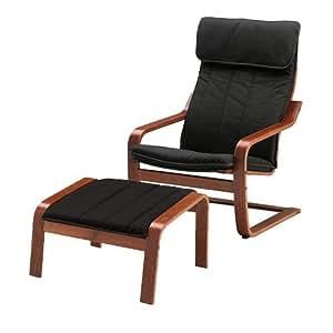 Amazon Com Ikea Poang Chair Armchair And Footstool Set