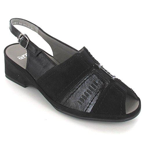 ARA 37039 sandales pour femme noir / schwarz (3)