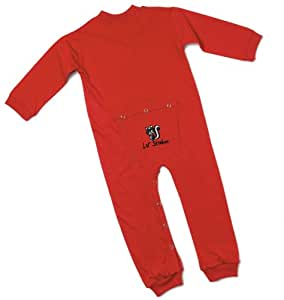 Lil' Joey Toddler Red Union Suit w/ embroidery - 4T   # 480RDS