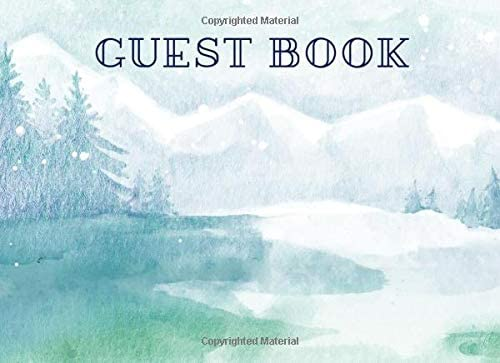Guest Book Winter Ski Lodge Guest Book For Rentals B B Cabin 110 Lined Pages Blank Snow In Mountains Nature Landscape Design By Amazon Ae,Pink Baby Shower Nail Designs