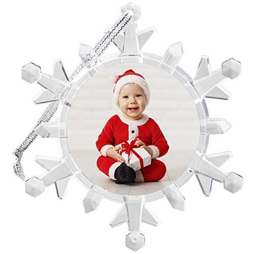 Neil Enterprises, Inc Light Up Photo Snowflake Ornament ()