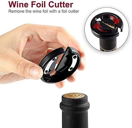 Sacacorchos Manual, Abridor Profesional de Vino con Cortacápsulas Portátil el Mejores Accesorios para los Amantes del Vino
