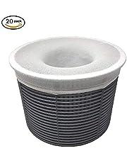 Skimmer Socks,20-Pack of Pool Skimmer Socks - Filter Savers, for Filters, Baskets,and Skimmers