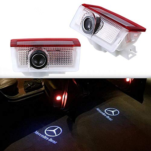 GANKING 2 Pcs Car Door LED Light Projector Ghost Shadow Lights Welcome Lamp for Mercedes-Benz E A B C ML Class w212 w166 w176 Series
