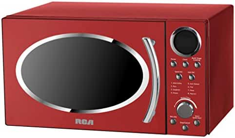 RCA RMW987-RED 0.9 cu. ft. Retro Microwave, Red