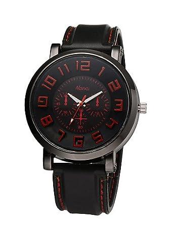 Watch billigsten 2015 Nueva de muñeco de pulsera Relojes Outdoor Sport Reloj caucho banda Ejecución Reloj de cuarzo reloj de hombre militar reloj: ...