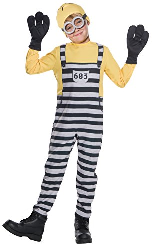 Rubie's Costume Boys Despicable Me 3 Jail Minion Tom Costume, Medium, Multicolor ()