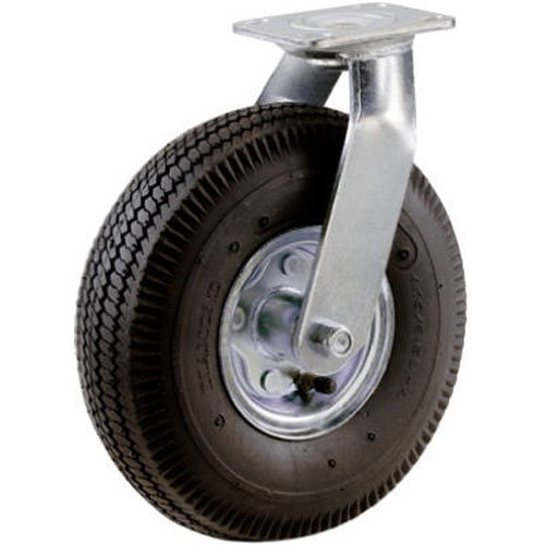 Shepherd Hardware 9794 8-Inch Pneumatic Caster Wheel, Swivel Plate, Steel Hub with Ball Bearings, 5/8-Inch Bore Centered - Caster Ball Wheel