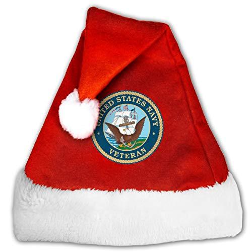 US Navy Veteran Christmas Santa Hat for Adult & Children