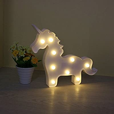 AIZESI Unicorn Night Light,Led Unicorn Lamps,Marquee Battery Operated Table Led Ligths Wall Decoration for Girls Bedroom,Living Room, Christmas,Party as Kids Gift