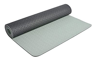 "Eco Friendly Two Layer TPE Premium Yoga Mat by Bestshared Extra Long 72"" Thick 6mm Light Weight 2.4 Lbs Non-Slip Free of PVC and Other Toxic Chemicals"