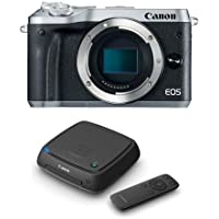 Canon EOS M6 Mirrorless Digital Camera Body, Silver - With Canon Connect Station CS100