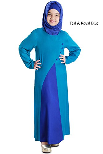 MyBatua-Baby-Abaya-Islamic-Dubai-Blue-Kids-Casual-Formal-Wear-Burqa-Dress-AY-565-K