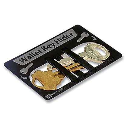 durable black plastic credit card sized wallet secret spare key hider container - Plastic Credit Card