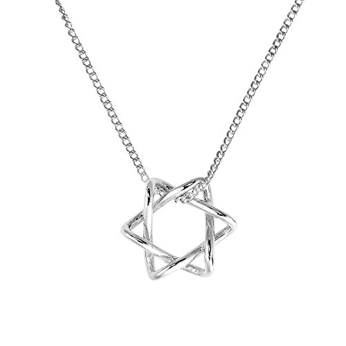 Intertwined Star of David .925 Sterling Silver Necklace