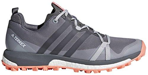 Adidas Terrex Agravic Vandreture Sko - Kvinders Grå Tre / Grå Fire / Kridt Koral 5.5 jWE4tjk4W