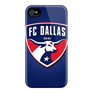MansourMurray Iphone 4/4s Perfect Hard Phone Cover Support Personal Customs HD Fc Dallas Pattern [tiA5644WPWk]