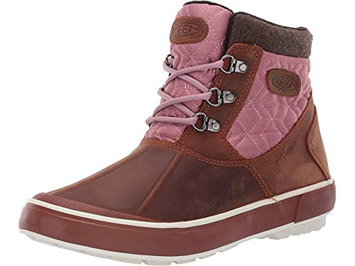 Keen Women's Elsa II Ankle Quilted WP Tortoise Shell/Nostalgia Rose 7 B - Womens Boots Quilted