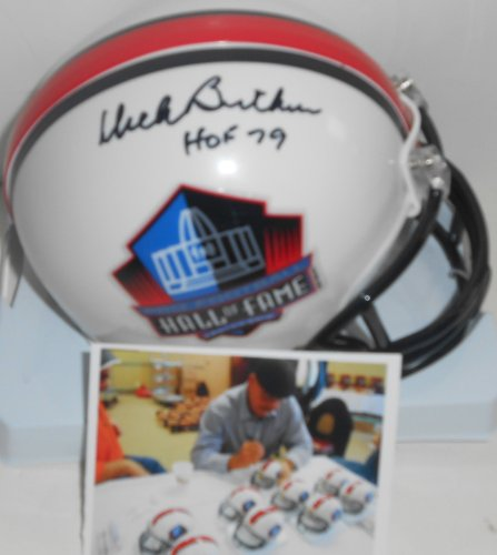 Dick Helmet Butkus - Dick Butkus Chicago Bears Autographed Signed Hall of Fame Mini Helmet HOF 79