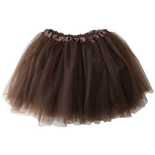 [Ballerina Basic Girls Dance Dress-Up Princess Fairy Costume Dance Recital Tutu (Brown)] (Ballerina Costumes For Toddler)