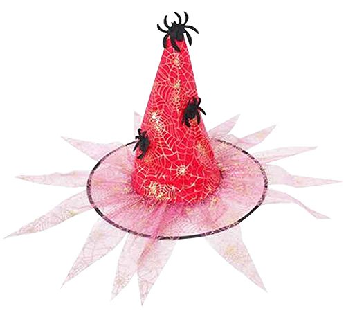 Set of 4 Halloween Hats Creative Witch Hats Spider Hats -