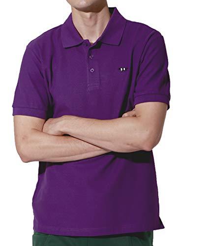 せっかち責任デマンドJ.STORE (ジェイストア) ポロシャツ メンズ 半袖 Vネック シンプル ワンポイント 刺繍 おしゃれ スポーツ