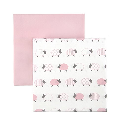 Tadpoles 2 Piece Microfiber Crib Fitted Sheets, Lamb, Pink from Tadpoles