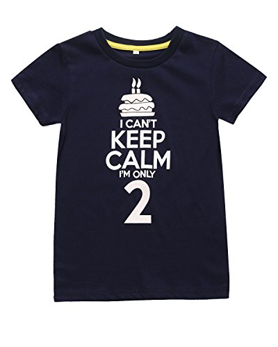 Color Changeable Little Boys' Funny 2nd Birthday Gift Cake T-Shirt (2T, Sapphire (2nd Colour)
