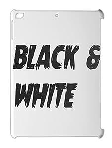 black & white iPad air plastic case