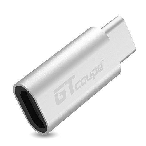 GT-COUPE® USB Type C , USB 2.0 (Micro USB) to Type C (USB-C) Convertor for New Macbook (12 inch), Google Chromebook Pixel, Nexus 5X/6P/6,Microsft 950/950s,and Other Type-C Port Device (Silver)