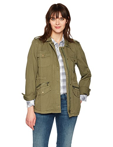 (VELVET BY GRAHAM & SPENCER Women's Army Jacket, Forest,)