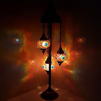 De Sol Lampe Marocain Tiffany Veilleuse Turque Verre Mosaïque Style XukiOPZ