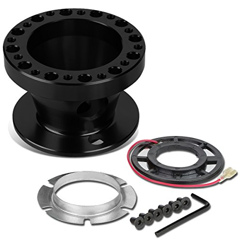 Aluminum Steering Wheel 6-Hole Hub Adaptor Kit (Black) For Miata / RX7 / RX8 / Protege (Miata Steering Wheel Hub)