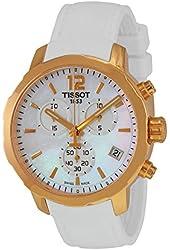 Tissot Quickster MOP Dial SS Rubber Quartz Ladies Watch T0954173711700