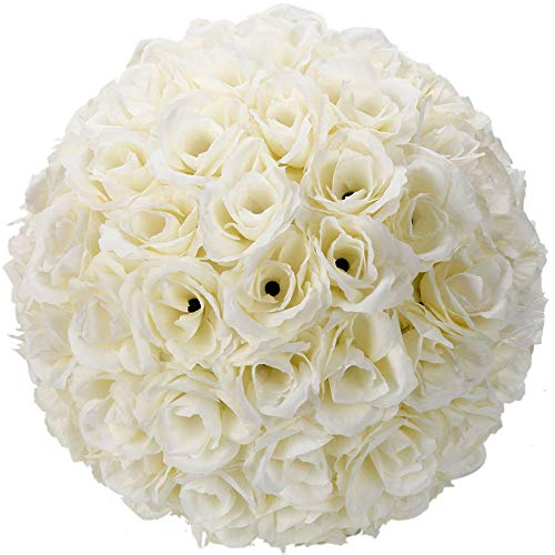 Kissing Ball Centerpieces - Z ZTDM 10 Inch Rose Flower